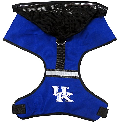 Pets First Collegiate Pet Accessories, Hooded Harness, Kentucky Wildcats, Large