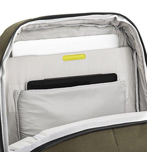 Rucksack 101ECO. Material Recycling mit Extrafach für Notebooks und Tablet Schwarz Oliv UCbCDNnZWQ