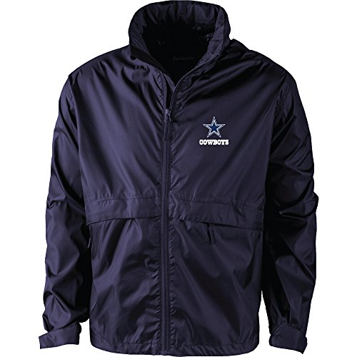 - Dunbrooke Apparel NFL Dallas Cowboys Men's 5490Sportsman Waterproof Windbreaker Jacket, Navy, Small
