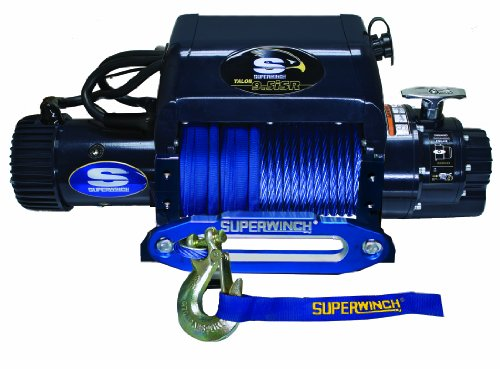 - Superwinch 1695211 Talon 9.5iSR, 12 VDC winch, 9,500 lb/4,309 kg capacity with hawse fairlead & synthetic rope