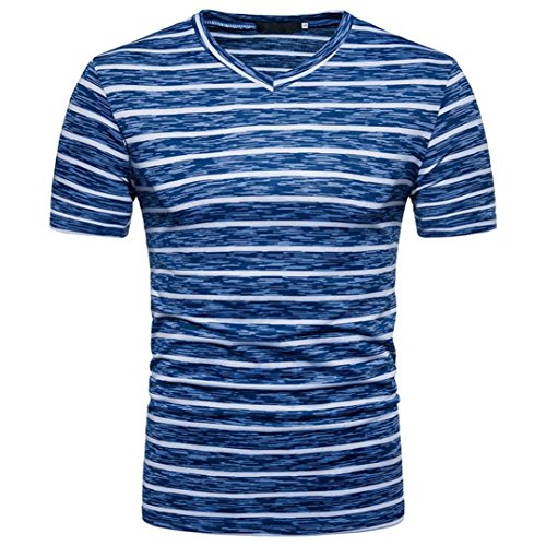 YOcheerful Men's Shirt Tee Top Blouse Pullover Classic Jersey Trucker Henleys (Blue,M) from YOcheerful