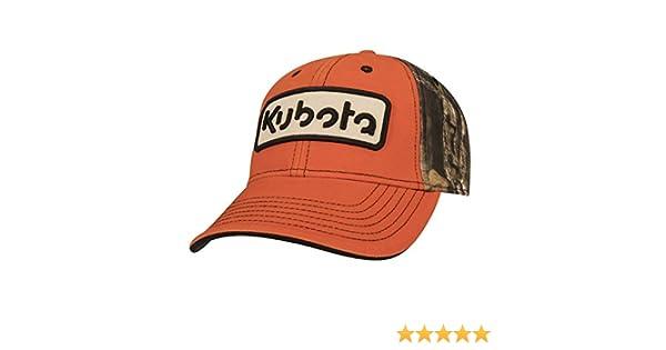 6f7d1dc034e Amazon.com  Kubota Orange Front w Camo Back Cap  Clothing