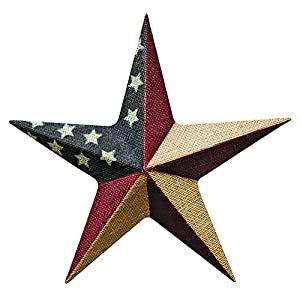 """CWI Gifts 12"""" Burlap Americana Star Wall Décor 35"""
