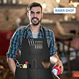 FaHaner 3 Pack Adjustable Barber Apron with 6