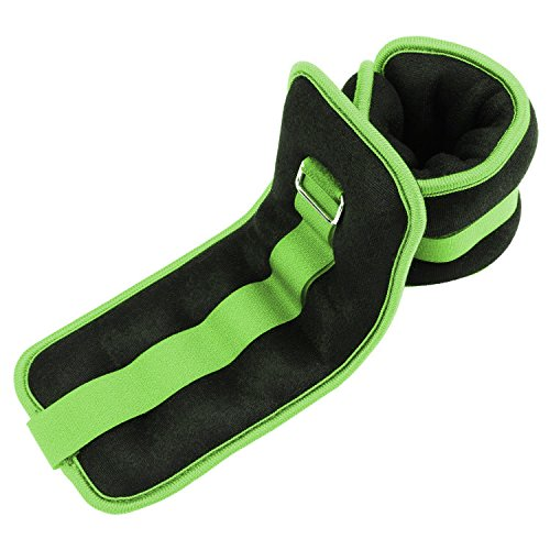 Reehut Durable Ankle/Wrist Weights (1 Pair) w/Adjustable Strap for Fitness, Exercise, Walking, Jogging, Gymnastics, Aerobics, Gym (2lbs 3lbs 4lbs 6lbs 8lbs 10lbs)