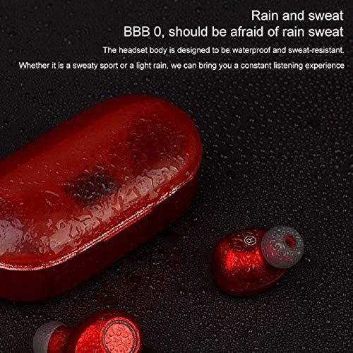 Cetengkeji AYD TWSブルートゥースステレオヘッドフォン充電ケース&マイク付きトゥルーワイヤレスヘッドセット。スポーツ用ランニングベース用プレミアムサウンド - スーパーイージーペア (Color : Red)