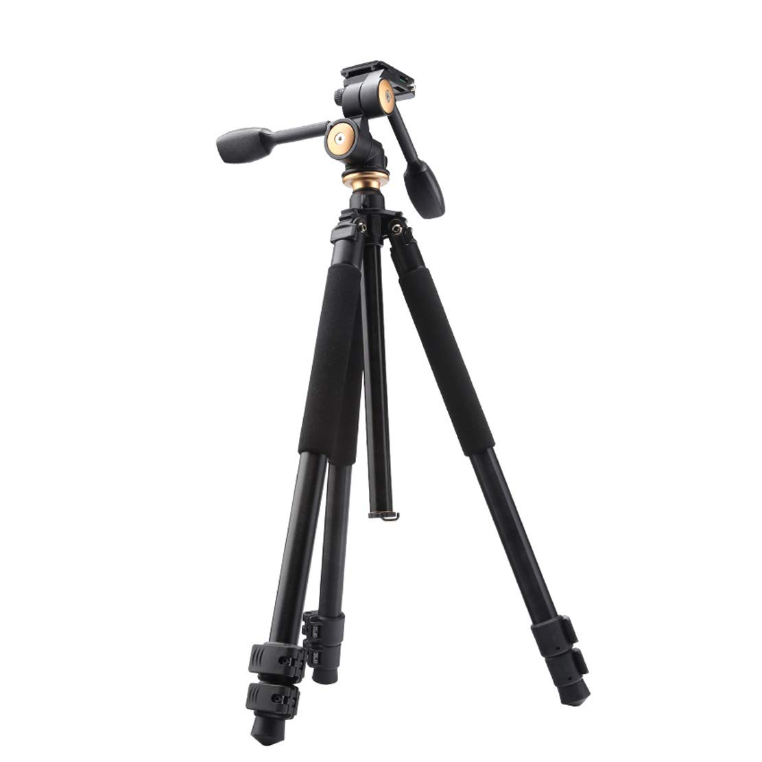 旅行 三脚 高品質アルミ合金素材格納式高さ67-172 cmモデルに適応 DSR Slr Nikon Canon Sonyその他のカメラ機器(推奨ベアリング310kgブラック)   B07R5ZSP6H
