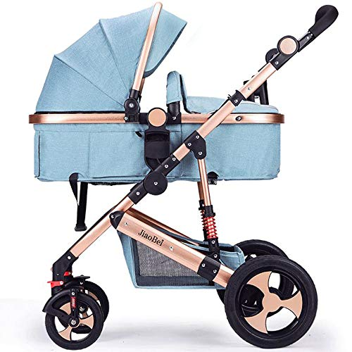 HEBEONE Baby Carriage Baby Stroller Can Sit and Lying Stroll Folding High Landscape Four Seasons Universal Baby Pram 2 in 1 Stroller]()