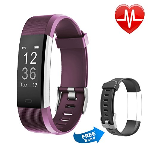 Fitness Tracker HR, Letsfit Activity Tracker Watch with Heart Rate Monitor, IP67 Waterproof Smart Bracelet with Calorie Counter Pedometer Watch Replacement Band for Android and iOS …