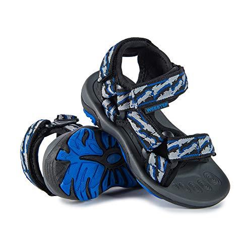 Boys Strap Black - Weestep Toddler Little Kid Boys Girls Adjustable Strap Sandal (9 M US Toddler, Black/Blue)