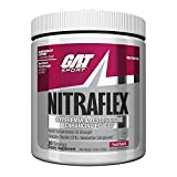 GAT - NITRAFLEX - Testosterone Enhancing Powder, Increases Blood Flow, Boosts Strength and Energy, Improves Exercise Performance, Creatine-Free