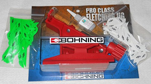 etching Jig Kit with Right Clamp Blazer Vanes Glue (Bohning Blazer Fletching Jig)