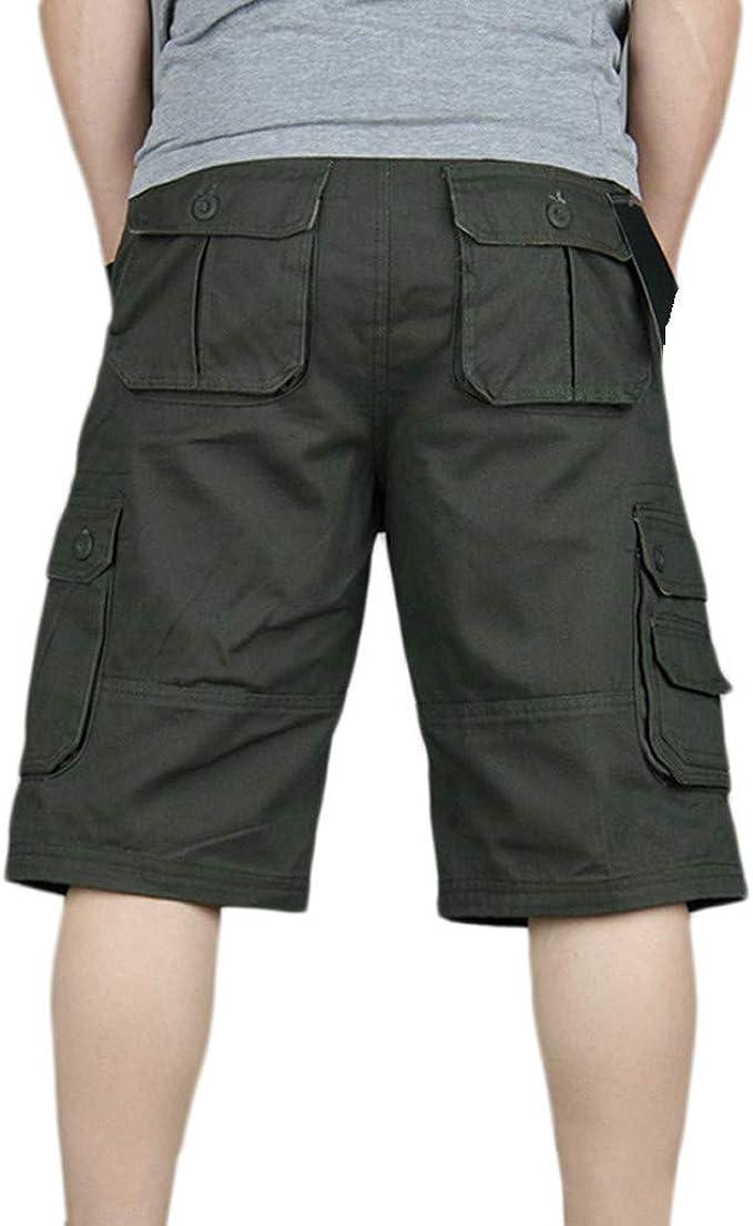 LuckyGirls Hombres Pantalones de Cargo Trabajo Suelto Pantalón ...