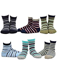 TeeHee (Naartjie) Kids Boys Cotton Fashion Fun Crew Socks 6 Pair Pack
