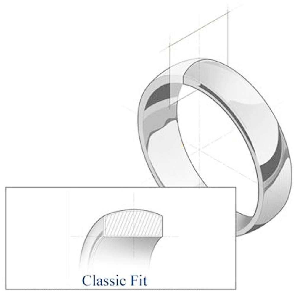 Wellingsale 14k Yellow White Gold Heavy 5mm CLASSIC FIT Milgrain Traditional Wedding Band Ring OR