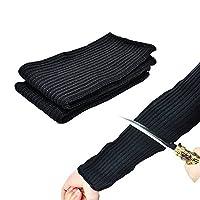 Katoot@ Black Kevlar Sleeve 35mm Arm Protection Sleeve Level 5 Anti- Cut Burn Resistant Sleeves Anti Abrasion Safety Level 5 (Free Size, Black)
