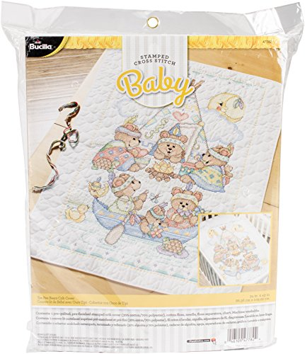 Bucilla Tee Pee Bears Crib Cover (Bucilla Baby Bear)