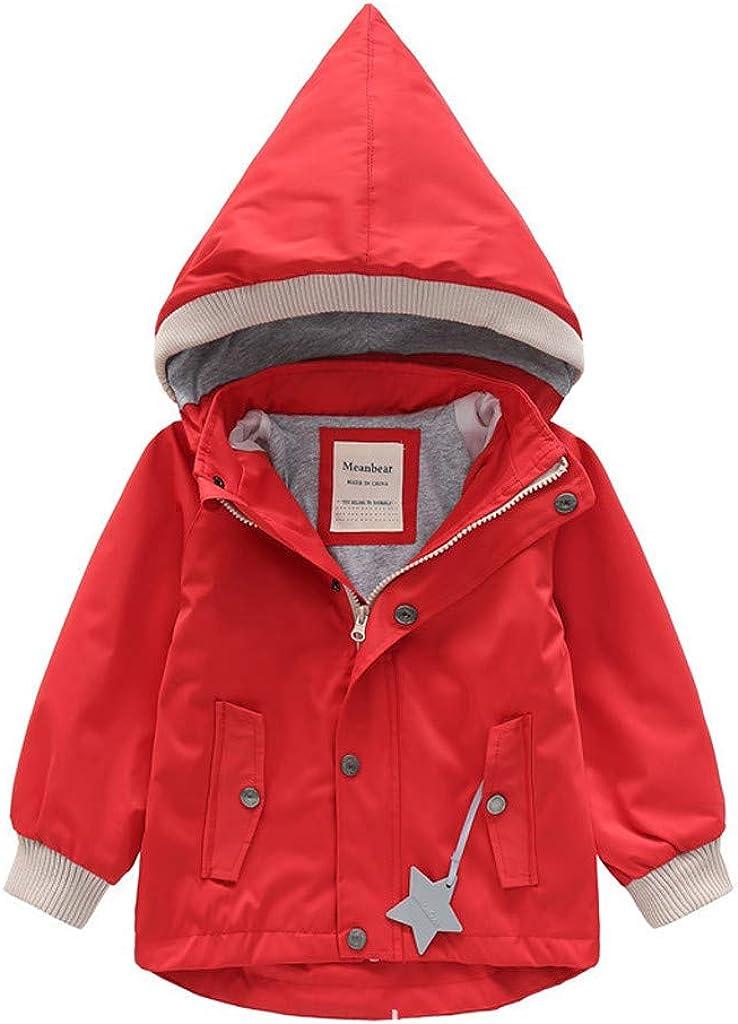 Deloito Kleinkind Baby Regenjacke Kinder M/ädchen Windbreaker Jungen Winterjacke Cartoon Tier Kapuzenjacke Mantel Winddichte Outwear Outfits 1-7 Jahrealt