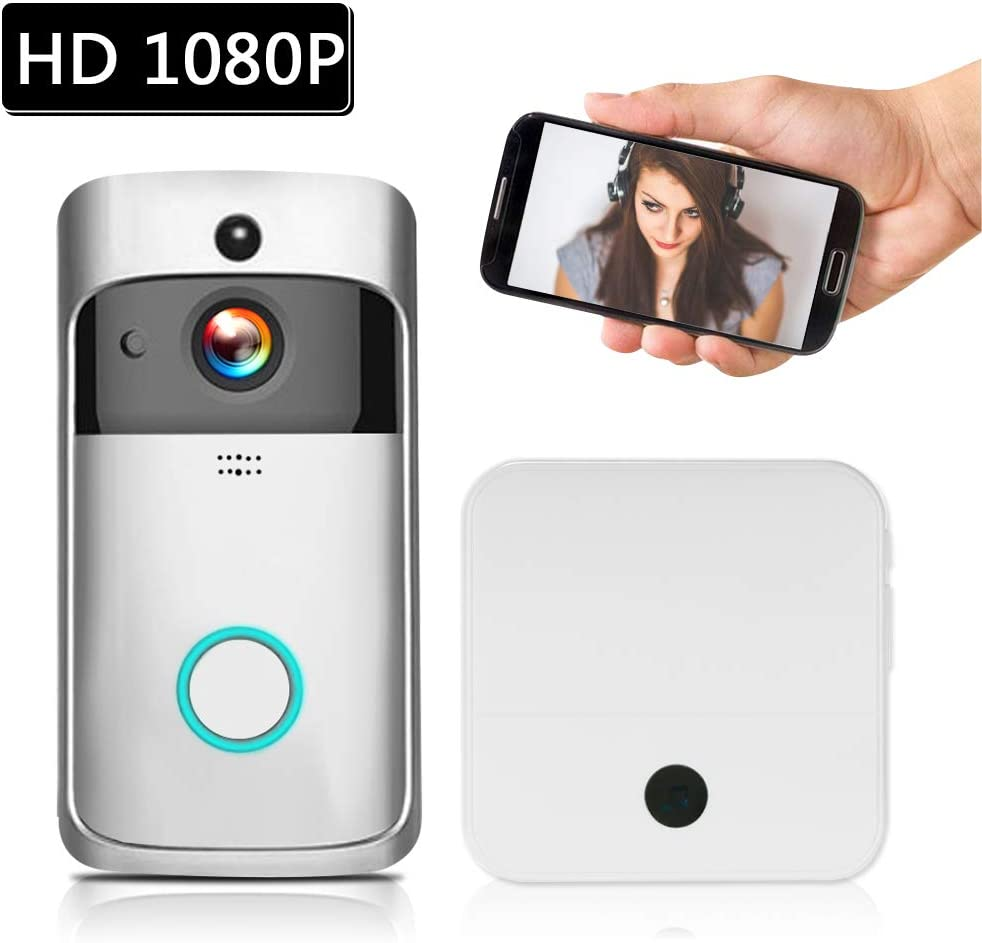 Extaum Visual Door Bell HD 1080P Videoportero inalámbrico ...
