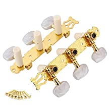 DN 2 Classical Guitar Tuning Pegs Machine Heads Keys Tuner--Golden