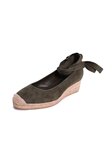 55013b8bd35 Amazon.com | Tory Burch Heather Suede 40MM Espadrilles Wedges in ...