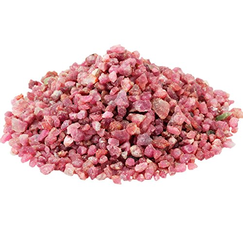 [rockcloud 1 lb Red Tourmaline Small Tumbled Chips Crushed Stone Healing Reiki Crystal Jewelry Making Home Decoration] (Crystal Colors Pink Blue Ruby)