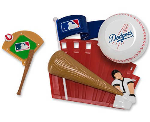 CAKEMAKE MLB Home Run, Cake Topper, Los Angeles (Dodgers Party Decorations)