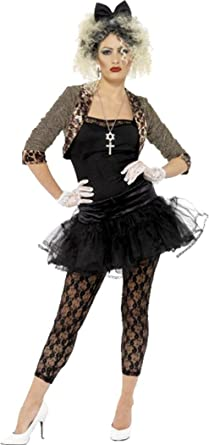 4ff41871cfb Amazon.com  80s Wild Child Madonna Costume Pop Star Womens Fancy Dress  Party Outfit  Clothing