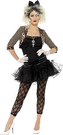 Amazon.com: 80s Wild Child Madonna Costume Pop Star Womens Fancy ...
