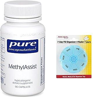 Encapsulados puras - MethylAssist - 90 cápsulas con gratis 7 días plástico píldora organizadores