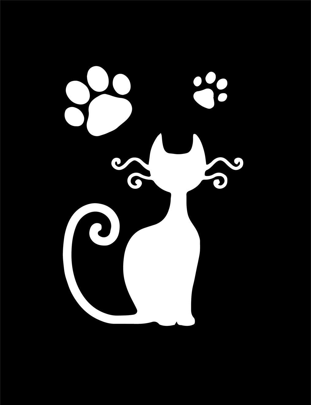MegaCrea Stencil adesivo cattura gatti 7/x 10