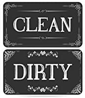 ENVIX Dishwasher Magnet Clean Dirty Sign - Magnet Double Sided Flip - with Metal Magnetic Plate - Kitchen Dish Washer...