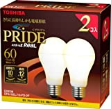 TOSHIBA ネオボールZリアルPRIDE A形 60Wタイプ 電球色 2個パック EFA15EL/10-PD-2P