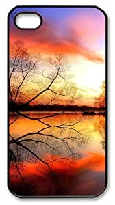 iphone 4 customizable case Landscapes sunset PC Black for Apple iPhone 4/4S