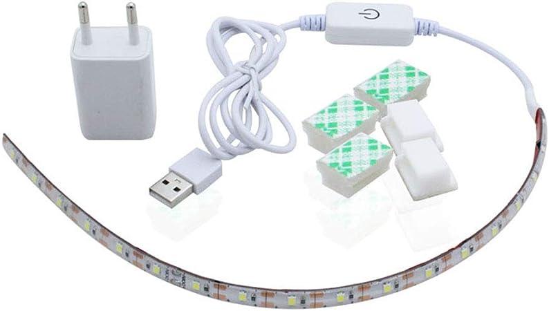 JIESD-Z - Luz LED para máquina de coser con enchufe de la UE (5 V ...