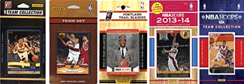 NBA Portland Trail Blazers 5 Different Licensed Trading Card Team Sets, Brown, One Size by C&I Collectables