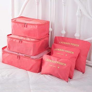 Travel storage bag_Travel traje de seis piezas maleta maleta ...