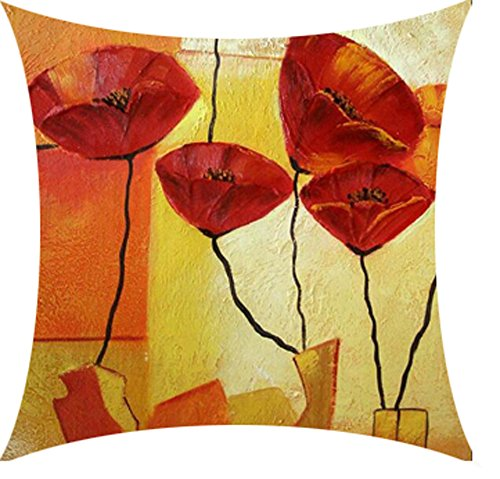 Oil Painting Red Poppies - 2