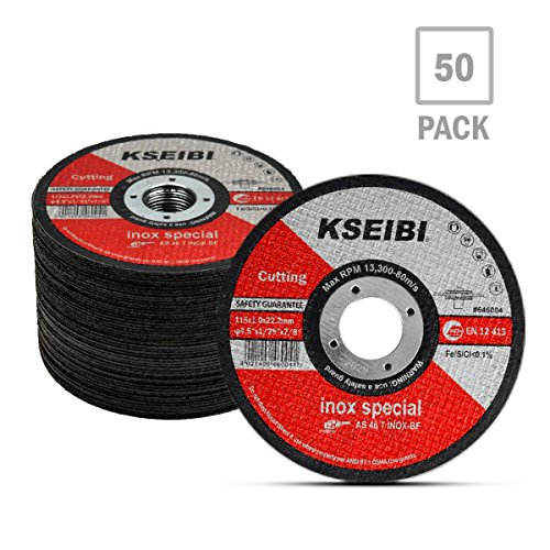 Metal Wheel - KSEIBI 50 Pack 646004 Angle Grinder Cut Off Wheels for Cutting Metal Stainless Steel 4-1/2