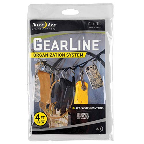 - Nite Ize GLN4-M2-R8 GearLine Hanging Organization System, 4', Assorted