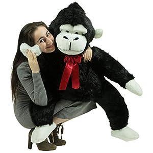 American Made Giant Stuffed Monkey 40 Inch Soft Black Big Stuffed Gorilla Made in USA - 511cjljoBAL - American Made Giant Stuffed Monkey 40 Inch Soft Black Big Stuffed Gorilla Made in USA