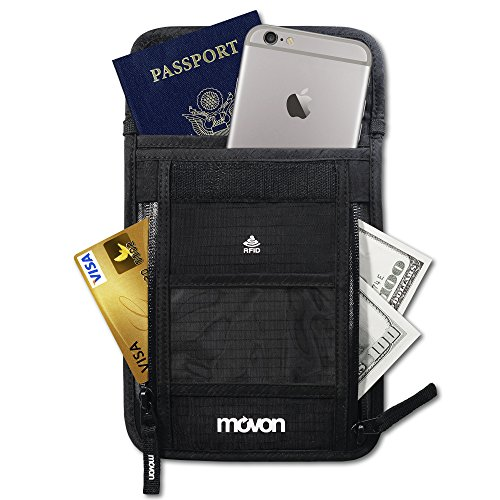Hidden Travel Wallet with RFID, Neck Pouch for 100%
