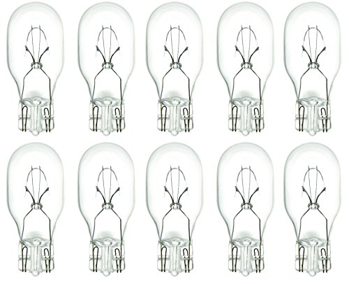 Pack Of 10 12.8V 7W T5 Wedge Base Miniature T5 Replacement Bulb, Low Voltage, T5-12.8V-7W Clear