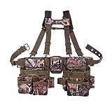 Bucket Boss 2 Bag Camo Tool Bag Set with Suspenders in Mossy Oak Camo, 85035