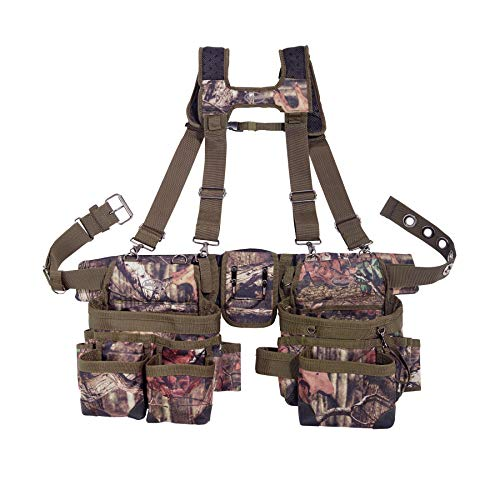 Bucket Boss 2 Bag Camo Tool Bag Set with Suspenders for sale  Delivered anywhere in USA