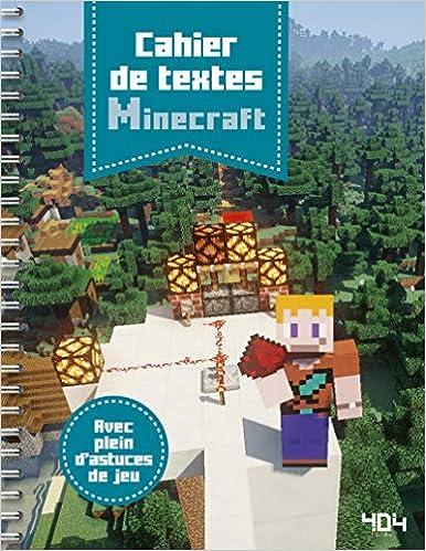 livre pdf gratuit télécharger Cahier de textes Minecraft