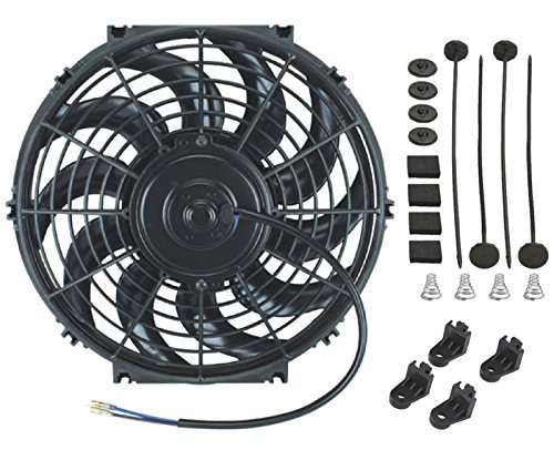 American Volt 12V Electric Radiator Cooling Fan Reversible High Performance Thermo Cooler Best CFM (11