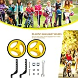 Bicycle Training Wheels for Kids, Children's Single Speed Bikes, Stronger Version Replacement Adjustable Bicycles Stabilizer for Children Suitable for 12/14/ 16/18/ 20/ inch Bike