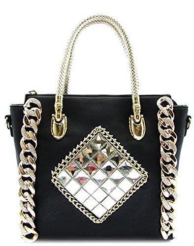 K63057L MyLux® Women/Girl Fashion Designer Tote handbag (black)