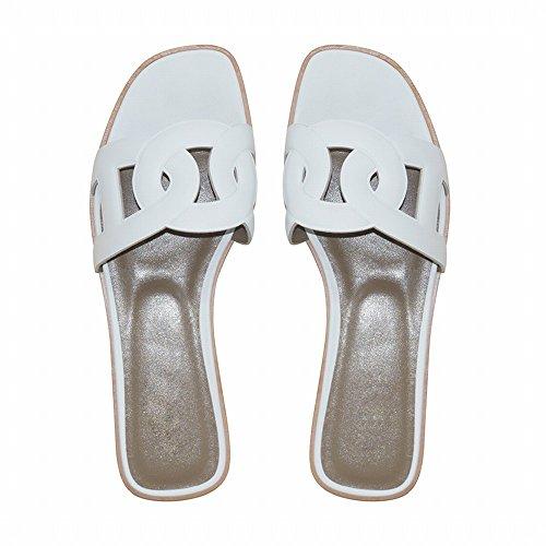 estive bianca DHG Pantofole piatte 35 HETTzw6q